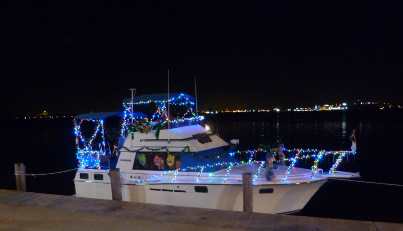 lighted Mardi Gras Boat parade