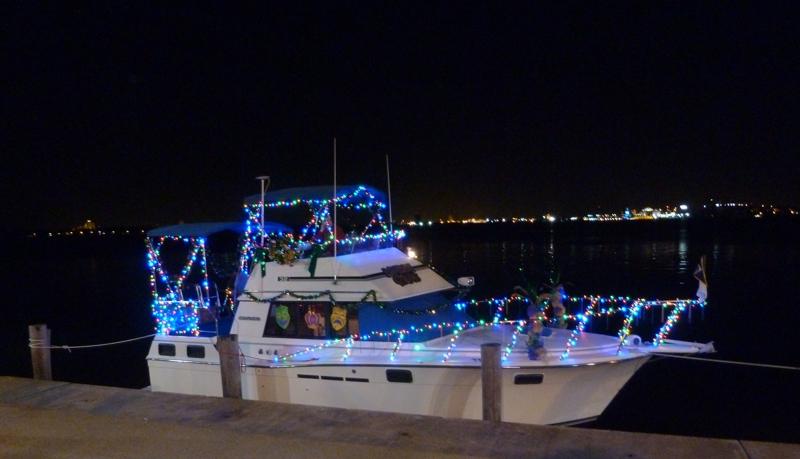 lighted Mardi Gras Boat parade