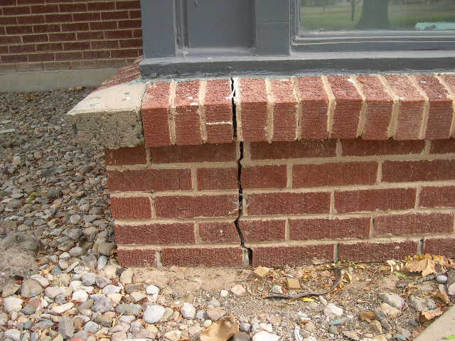 Crack in Brick wall.