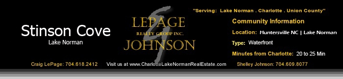 Homes for Sale Stinson Cove Lake Norman NC