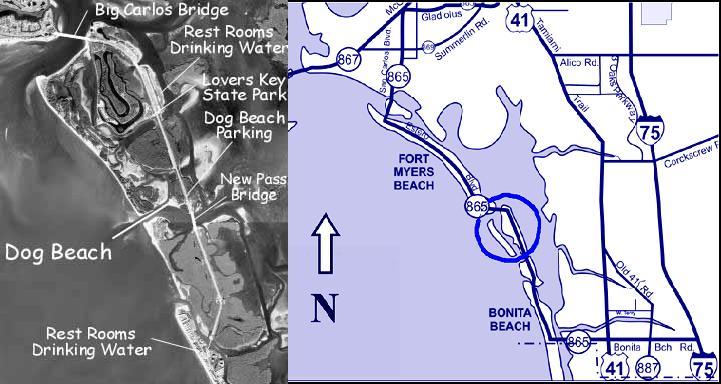 Barefoot Beach Florida Map.Dog Beach Bonita Springs Florida Bonita Beach