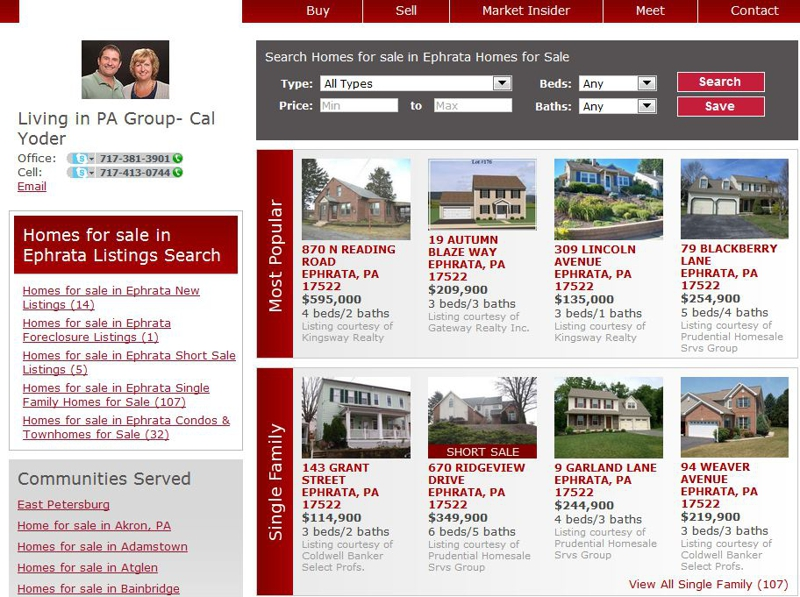 Homes for Sale in Lancaster County PA - Ephrata