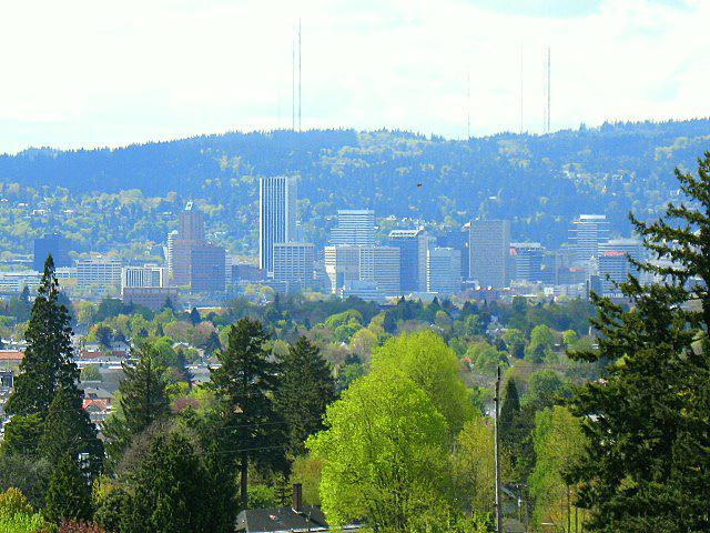 City of Portland as Seen from Mt Tabor Park