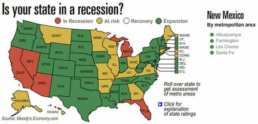 US map from Moody's Economy