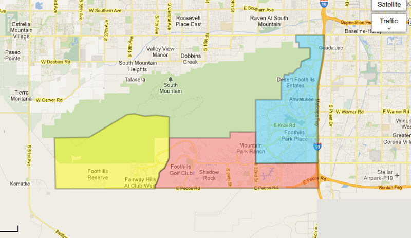Homes For Sale In The Foothills Reserve Ahwatukee Az
