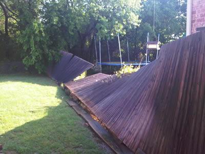 Broken Wood Fence Hot Tub Swing Set Removal Wilmington