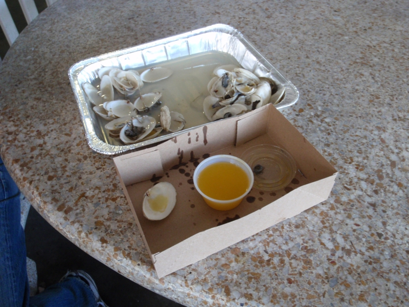 """remnance of about 1.5lbs of """"steamers"""""""