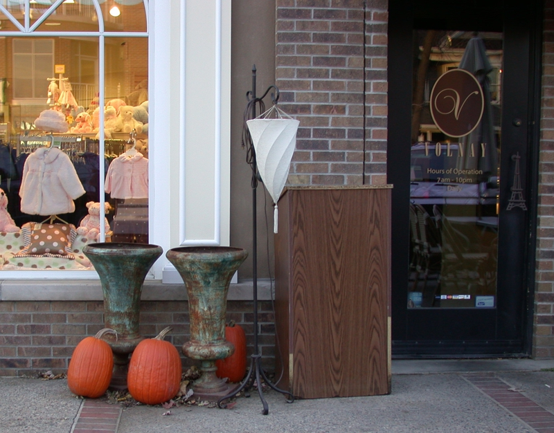 Halloween Pumpkins on display in downtown Wayzata