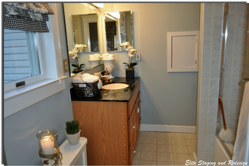 Budget bathroom staging before after photos for Staging before and after