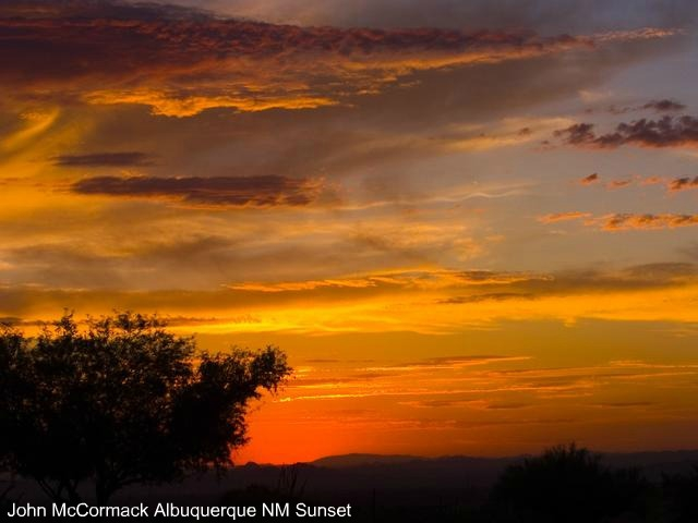Wildfires Cause Red Sunsets In Albuqueruqe NM