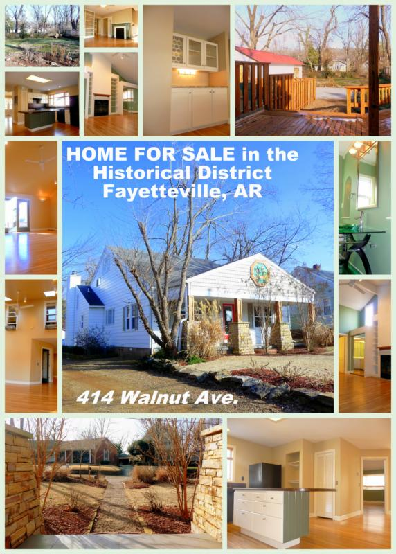 Home for sale in Historic District Fayetteville Arkansas