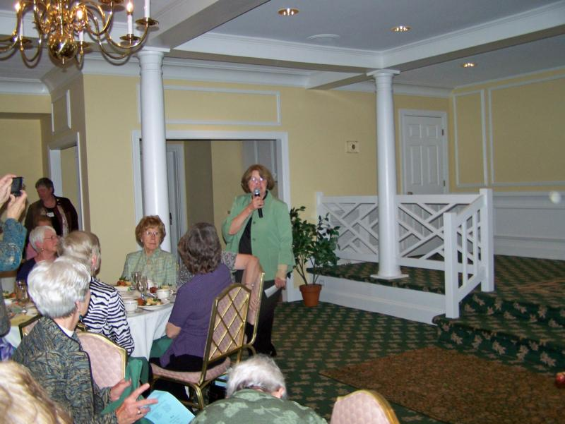 Joan Clements, Woman of the Year Woman's Club award Winner