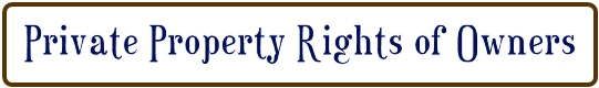 private property rights of owners
