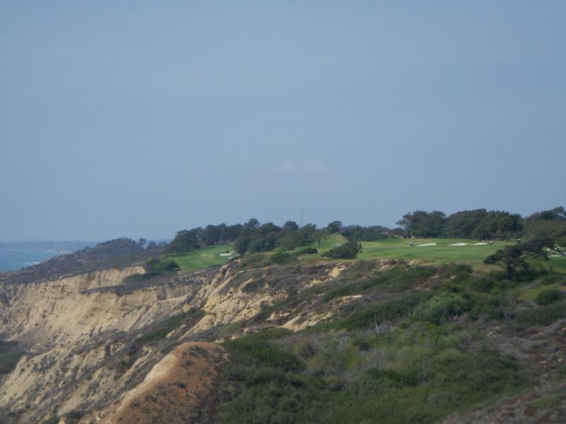 View of Torrey Pines State Reserve in La Jolla CA