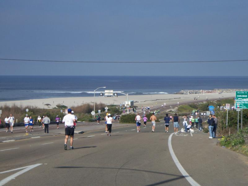 Carlsbad marathon at the southern end of town