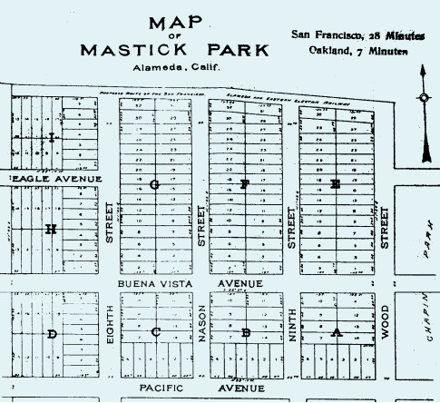Map of Mastick Park from AAPD website and newletter