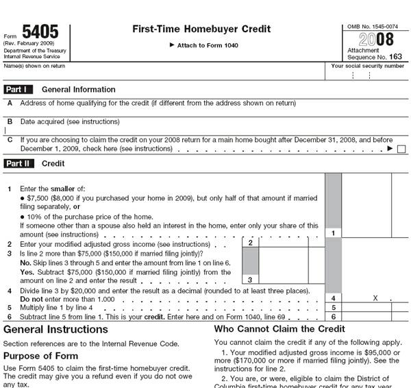 8000 First Time Buyer Tax Credit Check Received