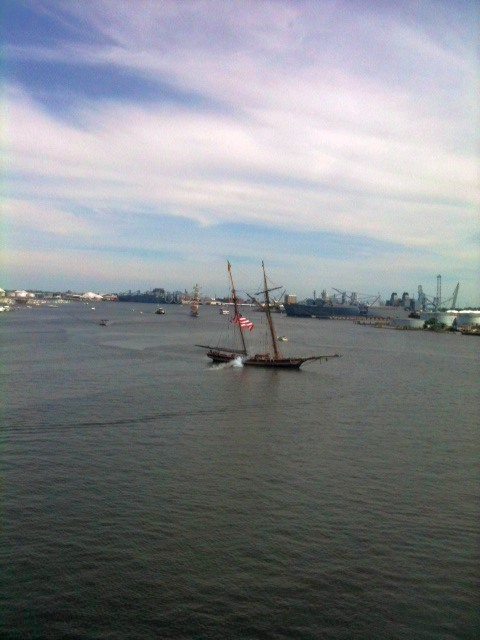 Pride of Baltimore arriving at the Star-Spangled Sailabration