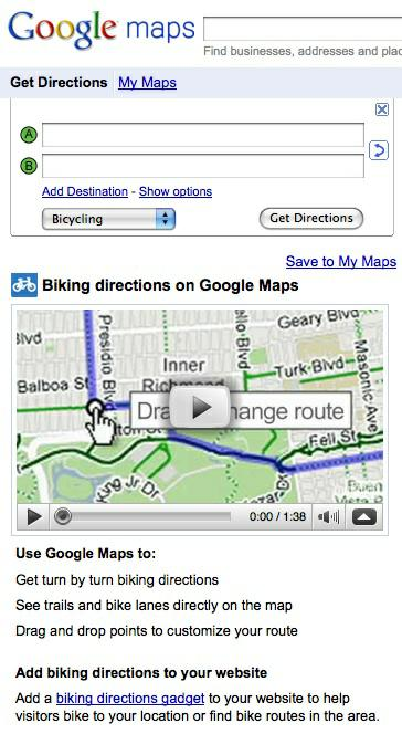 Google Now Offers Bicycling Directions and Maps on google maps exercise bike, google maps bike trail, google bicycle, bicycle path, google bike maps nyc, google maps bike route, la jolla bike path,