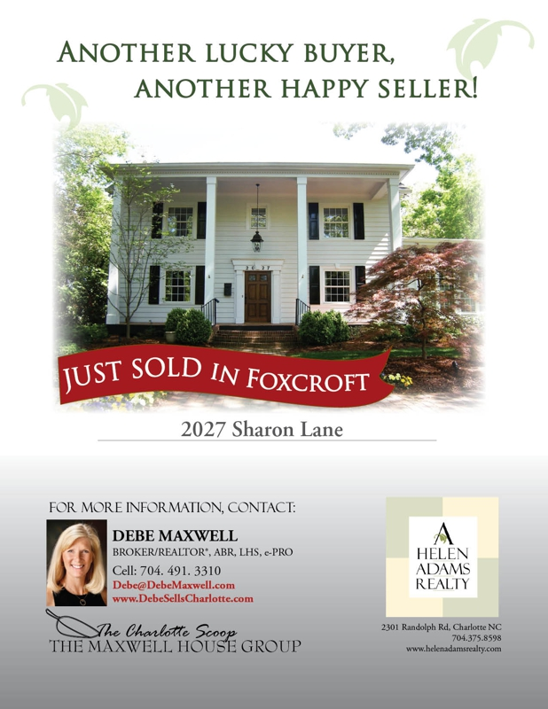 SOLD in Foxcroft Charlotte NC