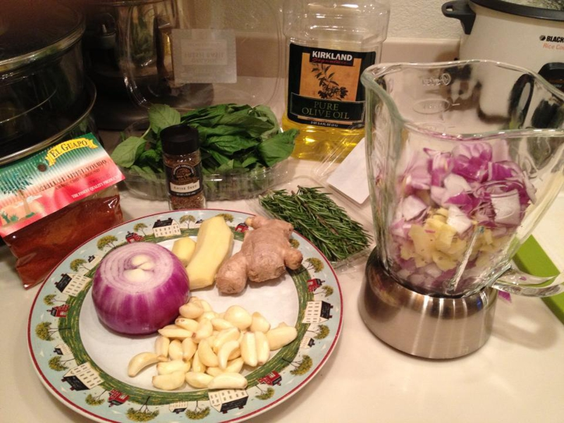 use fresh ingredients to create seasoning for turkey marinate