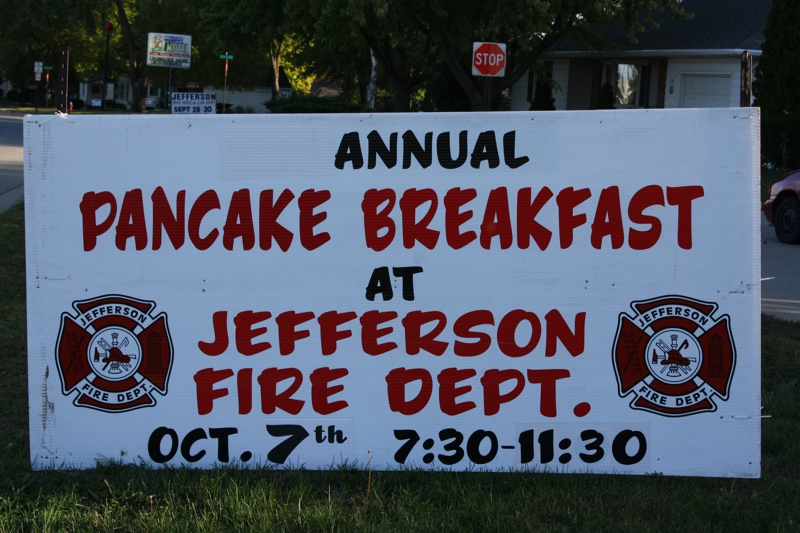Pancake Breakfast & Jefferson WI Fire Department Open House!