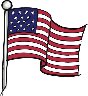 clipart of the American Flage