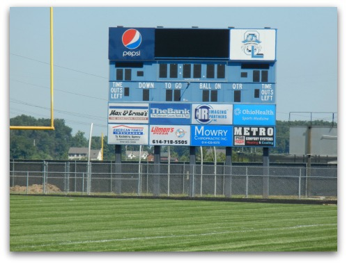Olentangy Liberty High School football scoreboard