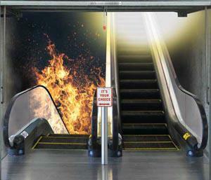 Heaven or Hell Escalators