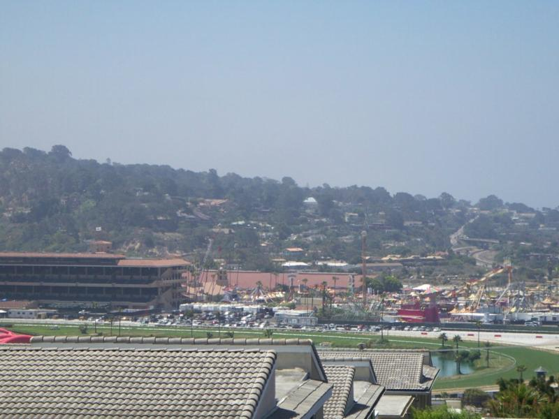 The famous Del Mar Race Trackcan be seen from Solana Beach