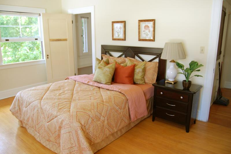 Pasadena Craftsman Master Bedroom after staging by Moving Mountains Design
