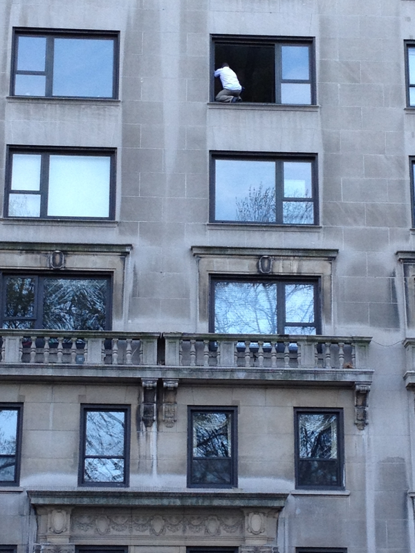 Window washer, Central Park South