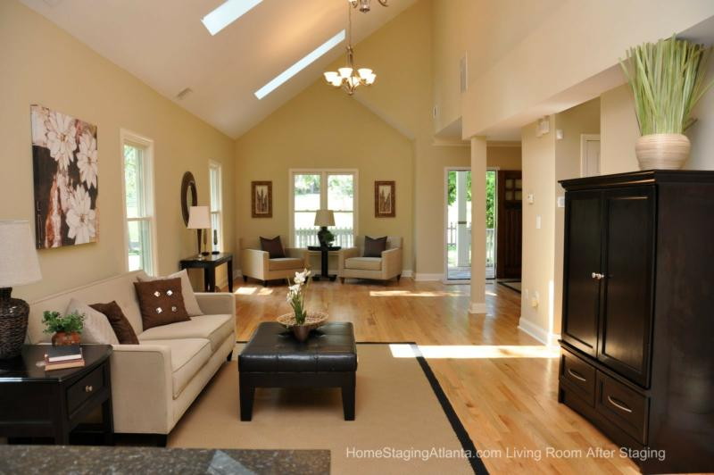 Home Staging Atlanta Living Room Before And After Pictures