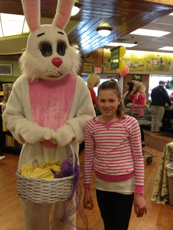 Easter Bunny at the Village Market in Wilton CT 06897