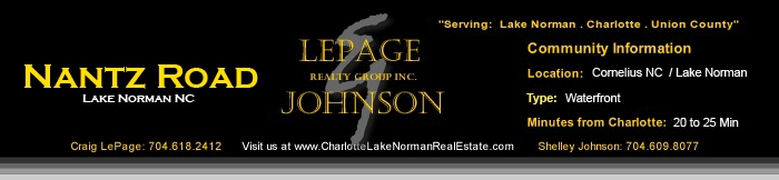 Nantz Road Waterfront Homes for Sale Charlotte Lake Norman Homes Lepage Johnson Realty Group