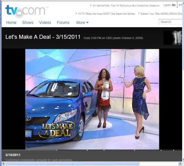 Let's Make a Deal Made My Cousin a Winner: Congrats Jessica