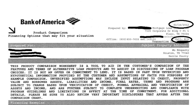 What Is A Bank Of America Product Comparison Approval Letter