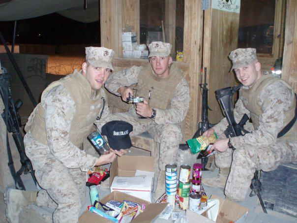 My son Patrick on the right, Marines in Iraq