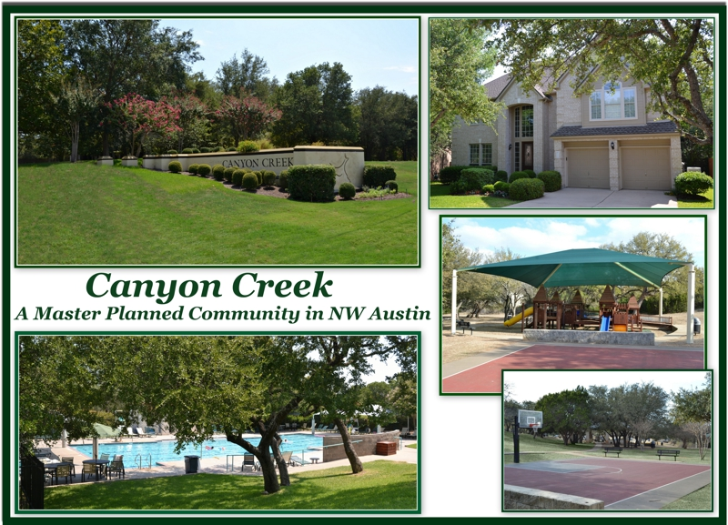 Master planned Canyon Creek community in NW Austin
