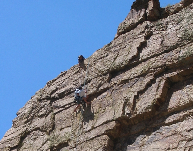 Climbers at the Rio Grande Gorge