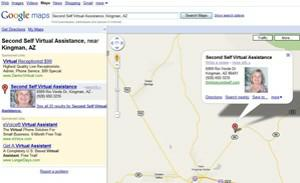 Second Self Virtual Assistance on Google Maps, real estate virtual assistants