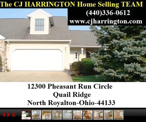 Cleveland Real Estate-12300 Pheasant Run Circle (North Royalton, Ohio 44133)...Call (440)336-0612 or Visit WWW.CJHARRINGTON.COM