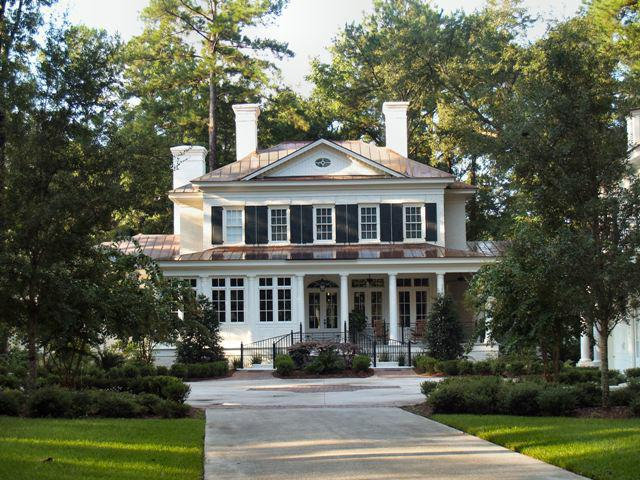 Low country southern plantation estate at the ford plantation for Low country style homes