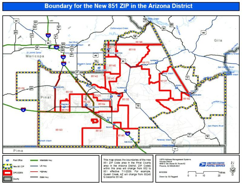 Pinal County Zip Code Map.San Tan Valley The Newest Area In The Southeast Valley