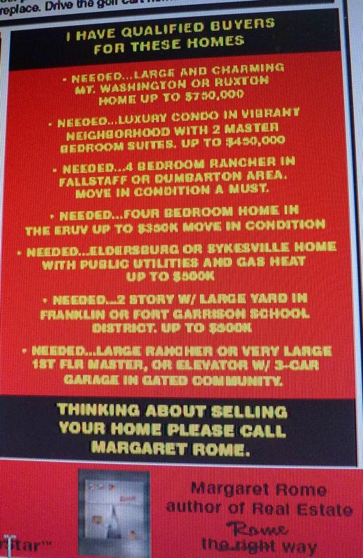 Buyers Needed HomeRome 410-530-2400