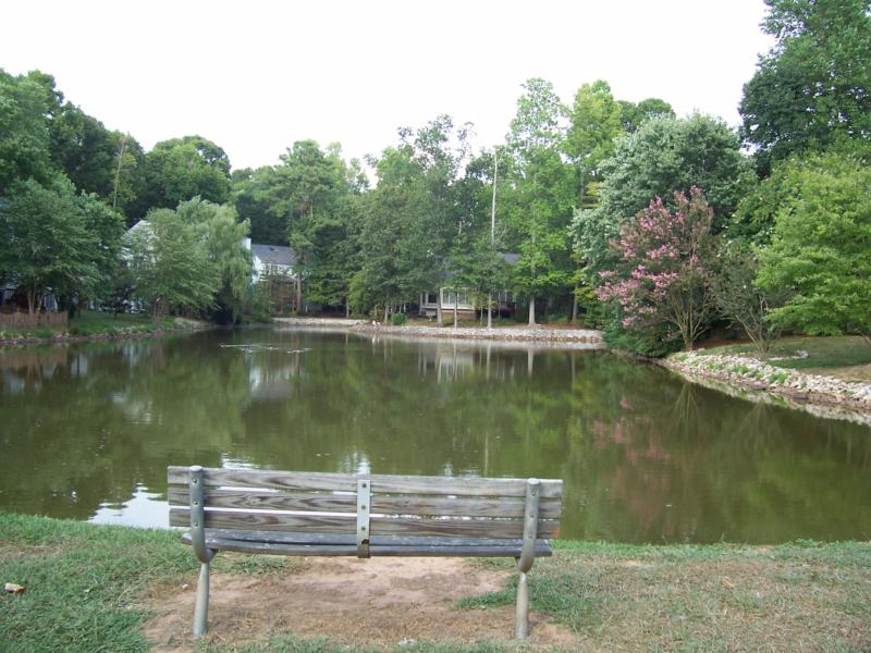 Cary, NC:  One of the community ponds at Wellington Place