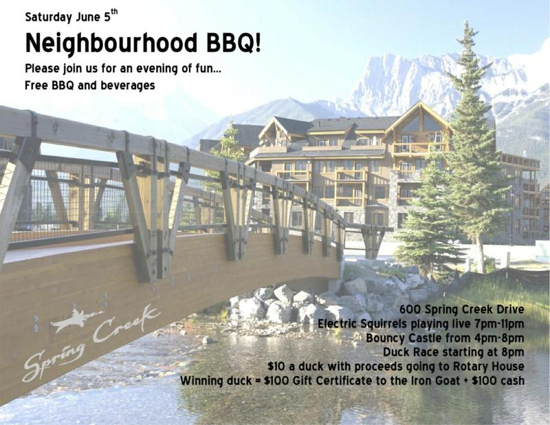Spring Creek Neighbourhood BBQ - Canmore