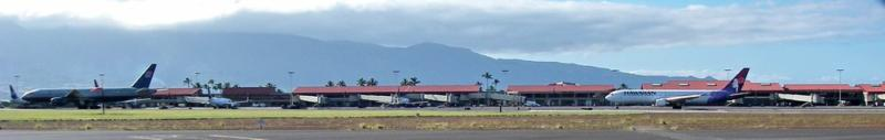 the airport and runway at Kahului Maui HI