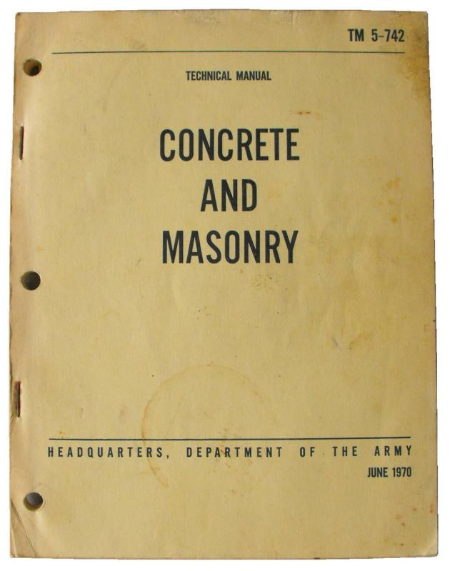 Army Concrete Technical Manual
