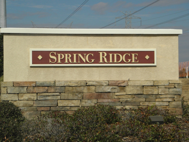 Spring Ridge Entrance In Brooksville Florida